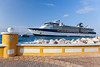 The Celebrity cruise ship Millennium in port at Willemstad, Curacao, Netherland Antilles.