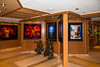 The art gallery on the cruise ship Crown Princess.
