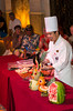 A fruit and vegetable carving demonstration on the cruise ship Crown Princess.