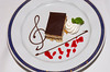 Opera cake dessert on the Holland America cruise ship Ryndam.