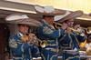 Mariachi trumpets entertaining on the Holland America cruise ship Ryndam.