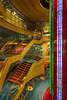 The atrium of the Holland America cruise ship Volendam.