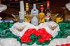 Liquor selection display on the Holland America cruise ship Westerdam.