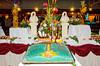 Dessert buffet table display on the Holland America cruise ship Westerdam.