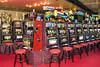 The Casino with slot machines on the Holland America cruise ship Zaandam