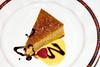 Dessert plate of Lemon cake with raspberry on the cruise ship Zaandam
