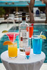 Wine bottle and drink display onboard the Holland America cruise ship Zaandam.