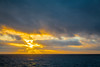 Sunset over the south Atlantic on board the cruise ship Zaandam.