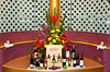An attractive wine display on the Holland America cruise ship Zuiderdam.