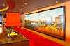 The Explorer s Lounge wall mural on the Holland America cruise ship Zuiderdam.