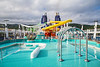 Deck 15 with pools and waterslides on the Norwegian Epic cruise ship.