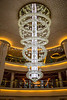 The Atrium chandelier on the Norwegian Epic cruise ship.