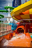 Water slides on the Norwegian Epic cruise ship.