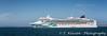 The Norwegian Jade cruise ship at anchor.
