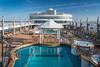 The pool deck of the Norwegian Jade cruise ship.