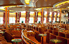 A theater lounge aboard the cruise ship Norwegian Wind in the Western Caribbean.