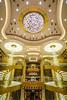 The decor of the atrium aboard the Regal Princess cruise ship.