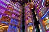 The multi floor atrium on board the Royal Caribbean cruise ship Serenade of the Seas.