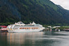 The Dawn Princess cruise ship in the port of call at Juneau, Alaska, USA, America.