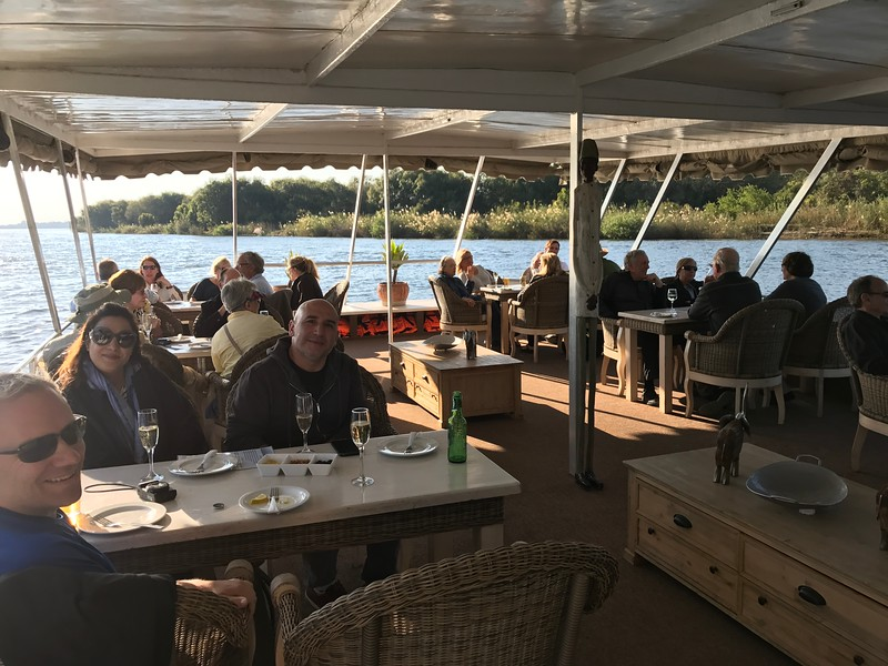 "To cap off our 2 days in Victoria Falls we enjoyed a really Beautiful Sunset Cruise which featured nice drinks & appetizers as well as an amazing story about the famous explorer, ""David Livingstone""... a nice way to end our time in this area for sure!"