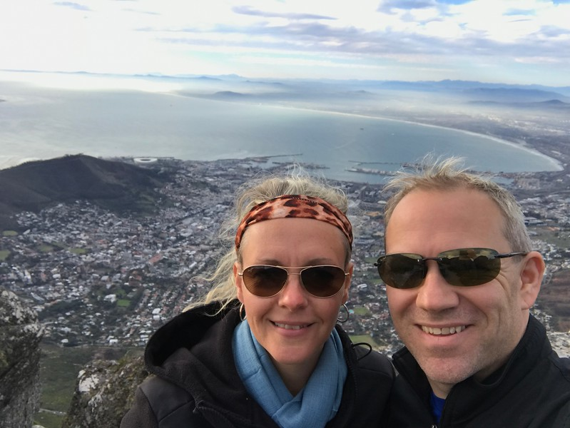 To cap off our time in Cape Town we were treated to a Cable Car ride up Table Mountain... the views from up there were truly spectacular!!