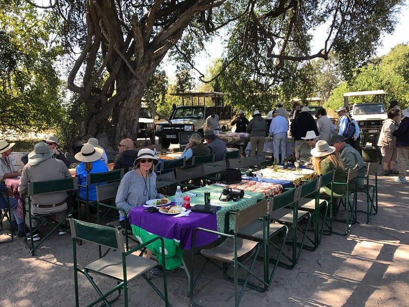 And that was all capped off by a wonderful picnic lunch right in the park!<br /> <br /> With that said, we saw other tour groups in the park with their little boxed lunches so as you can see above AMA stepped things up a little for our group! :-)