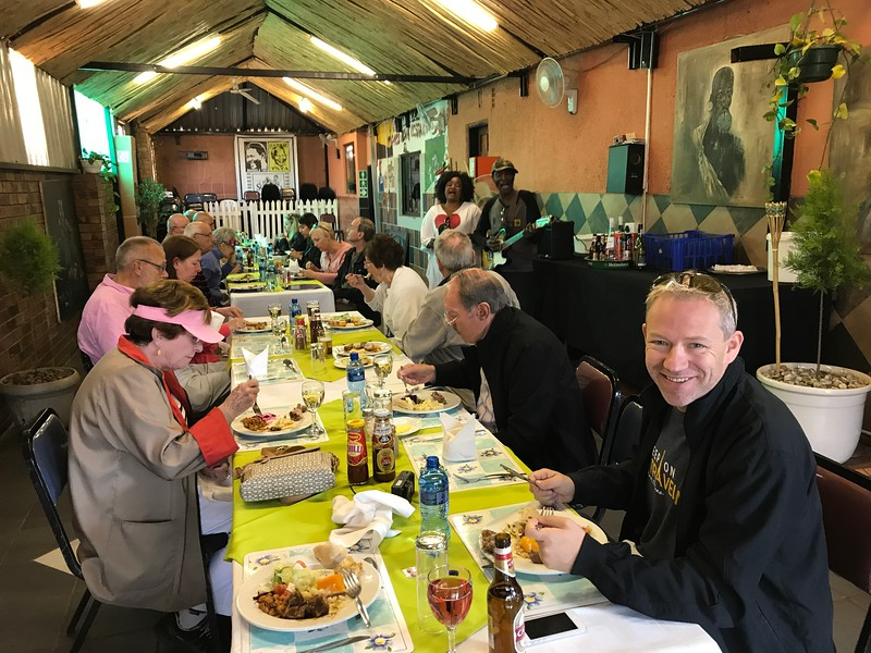 After our emotional visit to Kliptown we enjoyed a traditional African lunch in a local Soweto restaurant... overall it was a very a nice day in Johannesburg!! :-)
