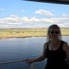 So, as you can see, the Zambezi Queen is small and comfortably provides all the essentials for your 4 nights in this area but the real highlight of her is the amazing views she provides of the wildlife that's all around... there's Nancy for example checking out some Elephants off to the side of the boat! :-)