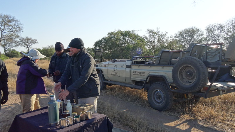 """One of the highlights of our """"Morning"""" Game drives was our Coffee/Tea/Hot Chocolate & snack breaks out in """"The Bush""""... who doesn't like that kind of adventure! :-)"""