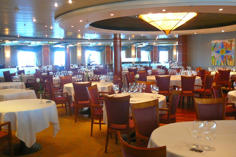 "There's the ""Compass Rose"" restaurant, the ""Mariner's"" traditional Dining room. The food was excellent there and it's open seating which means you eat when you're Hungry, not when you're told... nice. :-)"