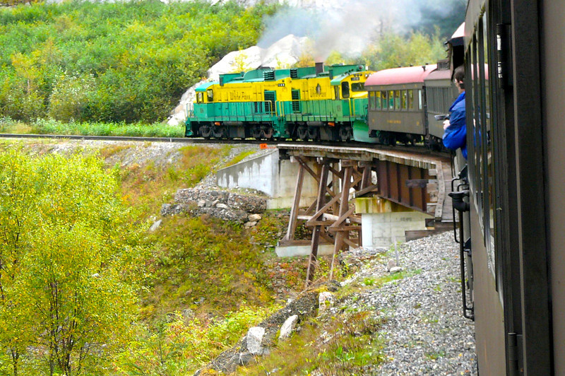"""A visit to Skagway wouldn't be complete without taking the """"White Pass"""" Summit Train ride... amazing!! An International Historic Civil Engineering Landmark it has to be experienced to appreciate it! How they built this is beyond us!"""