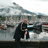 Shawn looks like he's enjoying his walk around Sitka harbor... it seems 1 or 2 people in Sitka like to go boating. :-)