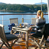 As you can see we had quite a nice setting for Breakfast before we headed off the Ship for the day into Ketchikan! No wonder Nancy couldn't wait to get upstairs for her 1st coffee this morning. :-)
