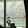 "You wouldn't want to be in a Ship too much wider then ours when in ""Tracy Arm""... check out the view from our room and how close we were to the Valley's walls. :-)"
