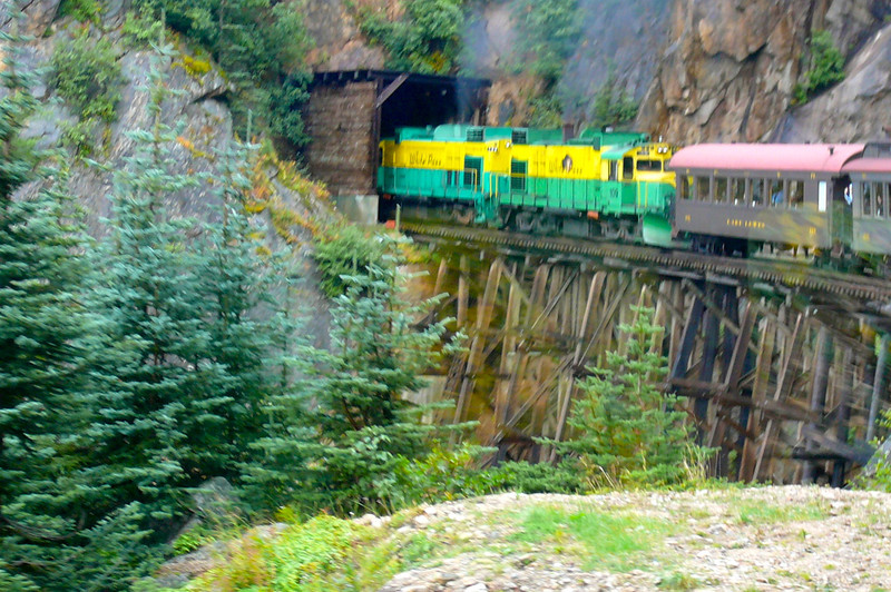 This route climbs 3000 feet in just 20 miles with steep grades of up to 3.9%. Definitely Alaska's most popular excursion as almost 500,000 people ride the Train each Season.