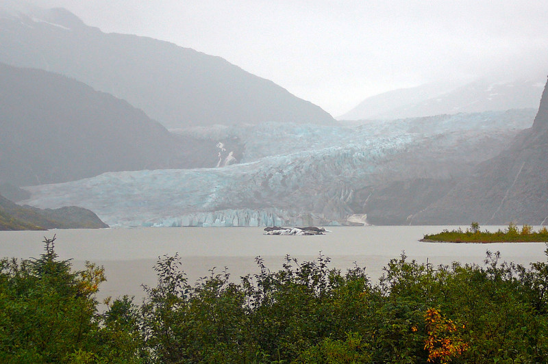 "Here was our 1st glimpse of the Beautiful ""Mendenhall Glacier"", only 20 min from the Juneau cruise port. If you'd like to see a Glacier up close, this is the place to do so!!"