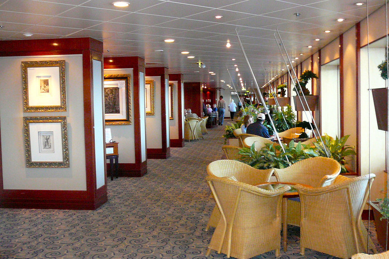 """There's the """"Garden Promenade"""" on Deck 6, another great place to enjoy a book, a cup of Coffee, play a game, do a puzzle or whatever else you can dream of to relax. :-)"""