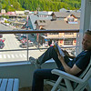 One of the best parts about having your own Private Balcony is you can check out all the action in Downtown Ketchikan while enjoying the privacy of your own room and a good book. :-)
