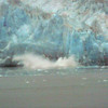 Hubbard Glacier is one of the only advancing Glaciers in Alaska so it's very active when it comes to Ice breaking off. Here you can see the huge splashes made from some falling Ice. Amazing!!