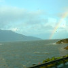 "Even the drive to Anchorage airport was Beautiful!! Check out the Rainbow as we drove past ""Turnagain Arm""."