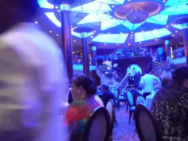 Here's some Video to give you a glimpse into what a Cruise Ship's Main Dining Room looks like... very elegant! :-)