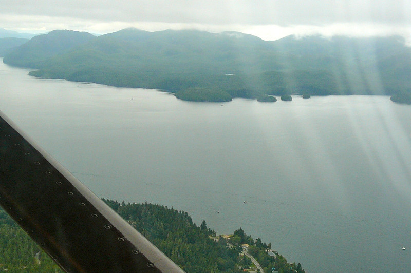 "Here's one of the many amazing views we had during our Floatplane ride to ""Neets Bay""."