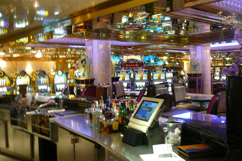 What Ship would be complete without a Casino? :-) FYI, all Ships sailing to Alaska have Casinos on them as well as just about all Cruise Ships around the World... Hawaii's about one of the only places we know of where there's no gambling while visiting there by Ship.
