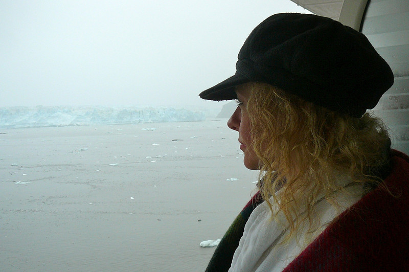 There's Nancy taking it all in... this was our second Cruise to Alaska over the past 2 years and it's definitely a place we could visit again and again and again and never get tired of!