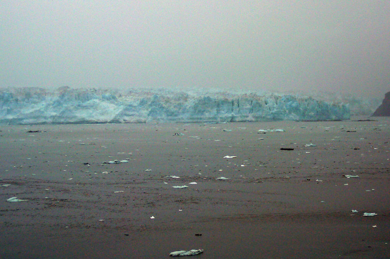 "Well, there she is, ""Hubbard Glacier""!! A picture like this doesn't do it much justice though as you have to experience in person the magnitude of this Glacier that's 6 miles wide and 76 miles long... the biggest ""Tidewater"" Glacier in North America and one of Alaska's few remaining advancing Glaciers."