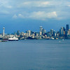 "Well, it's just a little after 4pm and we're off... there's one last shot of Beautiful Seattle as we ""Sail Away""."