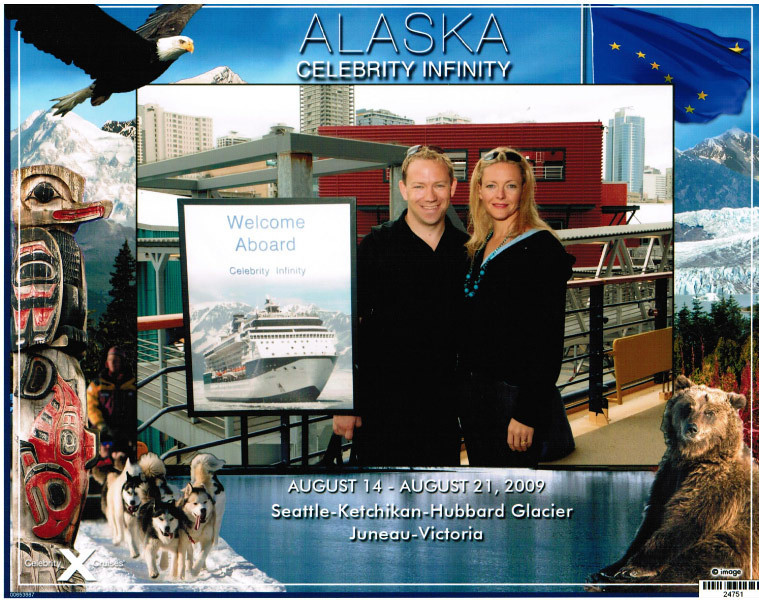 "Here we are boarding Cruise # 16... 7 Nights on the ""Celebrity Infinity"" to Majestic Alaska!!"