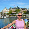 """There's Nancy in front of the Famous """"Fairmont Empress""""... """"High Tea"""" anyone? :-)"""