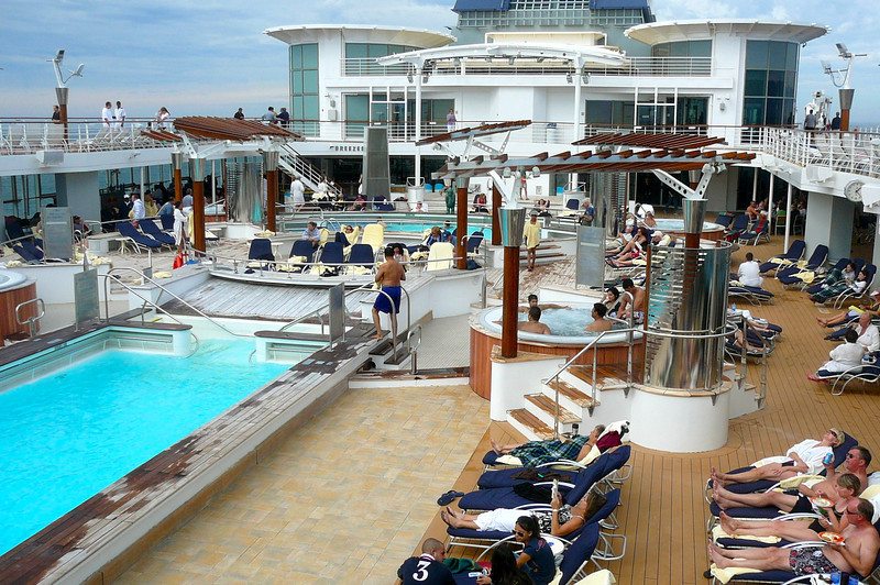 Even when Cruising to Alaska you can throw on your shorts and enjoy the pool... that's why the Season goes from May-September, so you can enjoy the comfortable Weather in Alaska then compared to the freezing cold during the Winter months. :-)