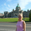 There's Nancy posing by the Parliament building in Victoria... for those of you Trivial Pursuit buffs, Victoria is the Capital of British Columbia, not Vancouver (where we live) as many people tend to believe. Either way, no matter who the Capital of BC is, it's a Beautiful Building... and Lady!! :-)